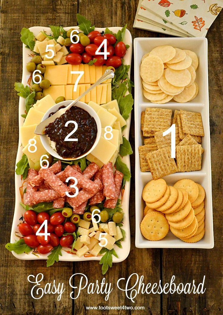 Easy Party Cheeseboard Recipe Food platters, Food