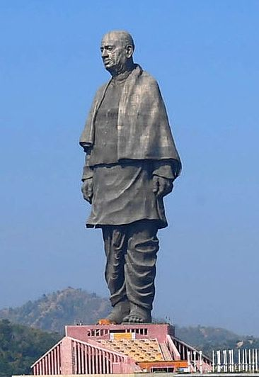 India Statue of Unity located in Gujarat India is the Worlds tallest statue