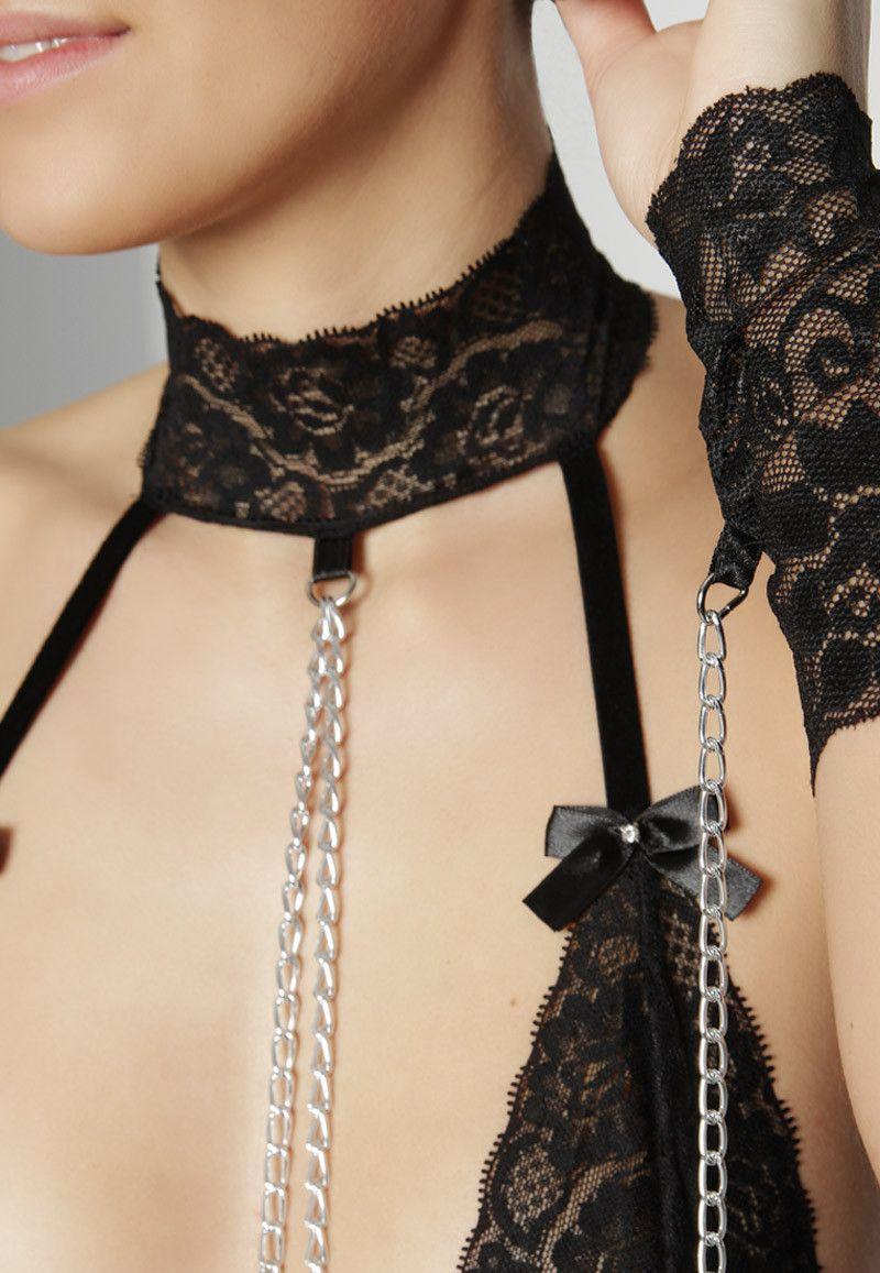 Leg Avenue - Bra & Panty Sets - Set mit Fesseln - Black | enamora.de