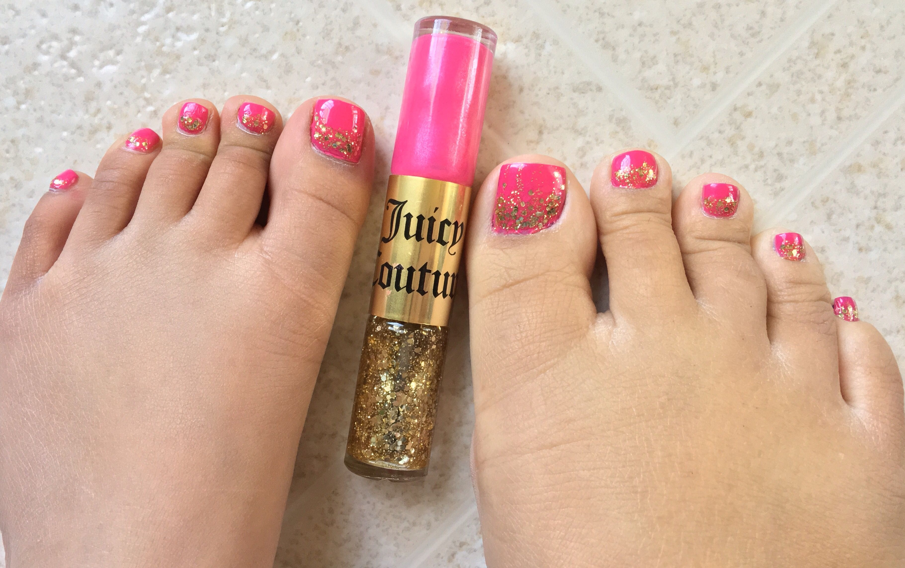 Juicy Couture Nail Lacquer Duo Pink & Gold | Magnified Mani & Pedi ...