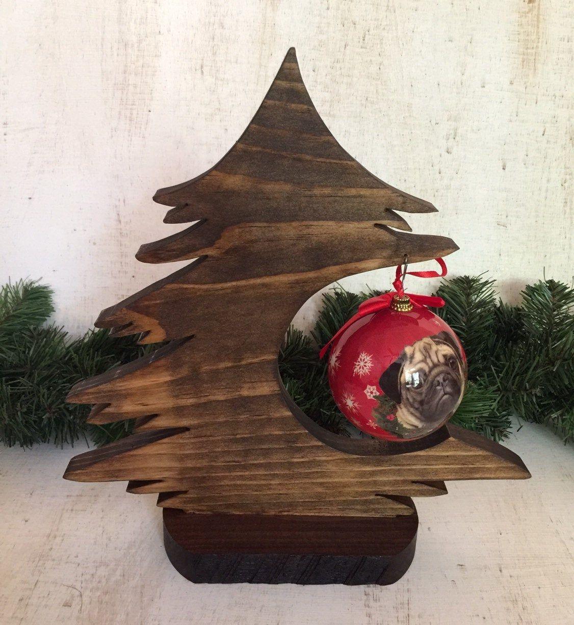 Wood Christmas Tree Ornament Hangerrustic Christmas Tree Etsy Christmas Tree Holder Christmas Tree Ornaments Rustic Christmas Tree