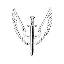 michael winged sword symbol symbols pinterest symbols
