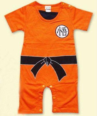 f3932f4d34eb Baby Kids Toddler Dragon Ball Goku Bodysuit Jumpsuit Romper Fancy ...