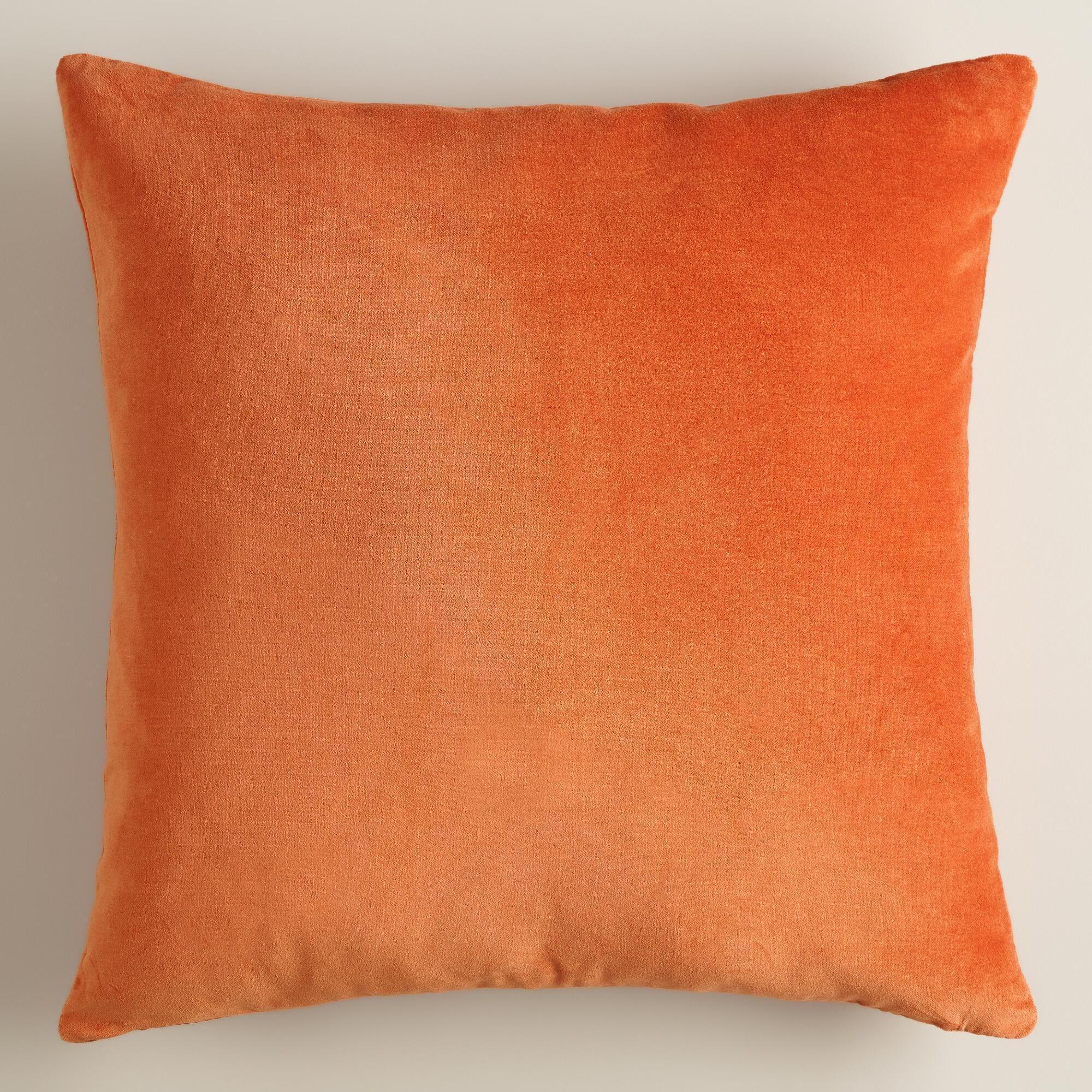 """$19.1919 - $219.1919 19""""x19"""" / 19""""x19"""" Burnt Orange Velvet Throw Pillow ..."""