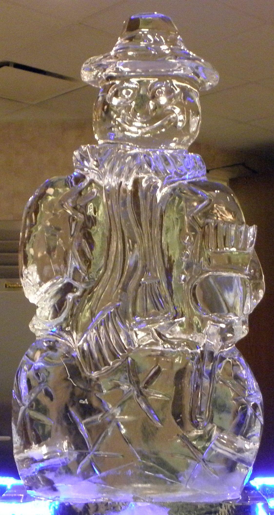 3D Snowman Ice Sculpture
