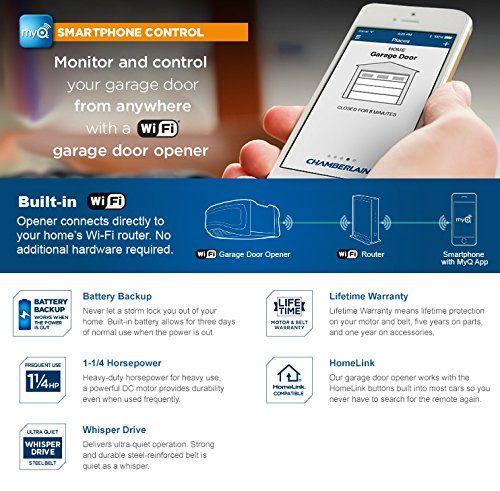 Chamberlain Wd1000wf 1 14 Hps Smartphone Controlled Wi Fi Garage