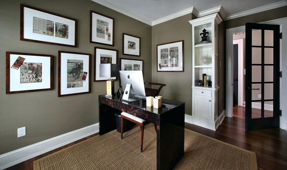 best paint color for office grey office paint color on home office color schemes id=88555