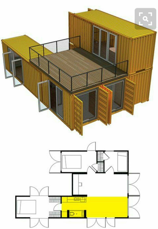 4 Containers 2 levels | like | Pinterest | rustikale Hütten, Hütten ...