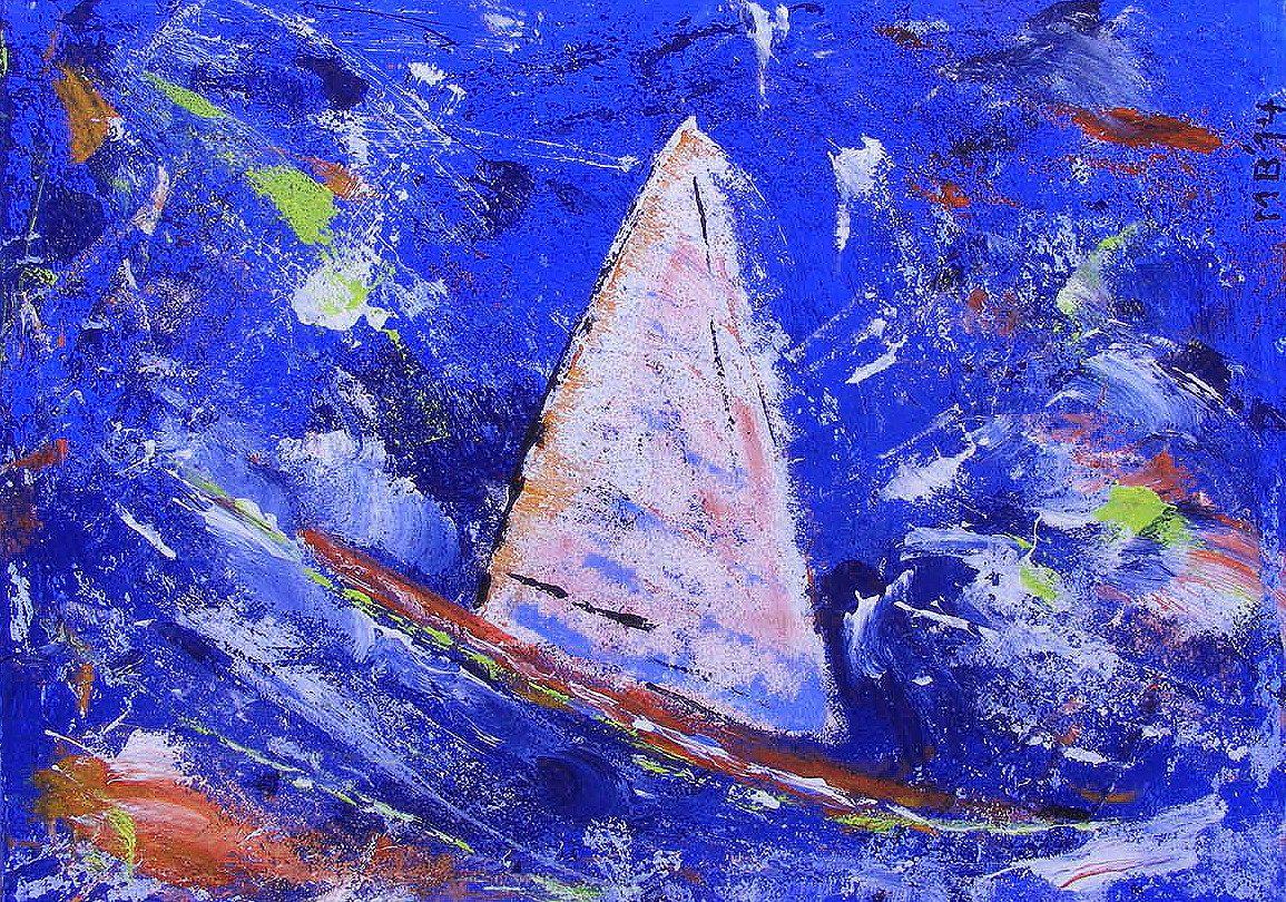Original Large Modern Art Expressionism - Sailing Ship / Wild Ocean - 27,5x19,7 inch by Markus Brillert - FREE Shipping worldwide von BrillertART auf Etsy https://www.etsy.com/de/listing/239394973/original-large-modern-art-expressionism