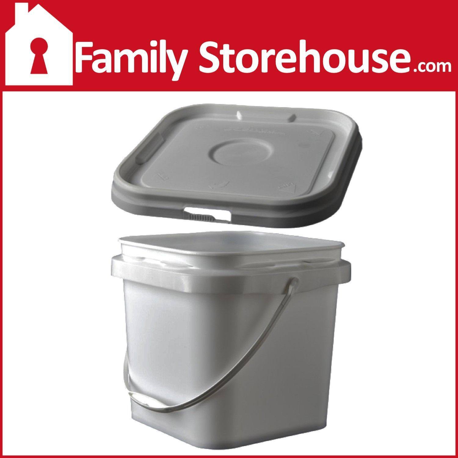 2 Gallon Square Bucket W Lid Gallon Lidded 2 Gallons