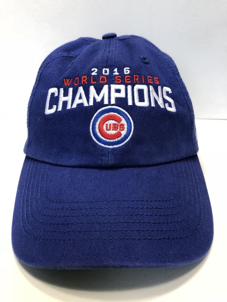5f709622b28 MLB Chicago cubs World Series Champions 2016 Cap Hat Men Fitted Small 47  Brand