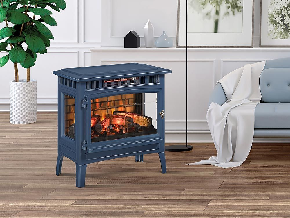 Duraflame 3d Navy Infrared Electric Fireplace Stove With Remote