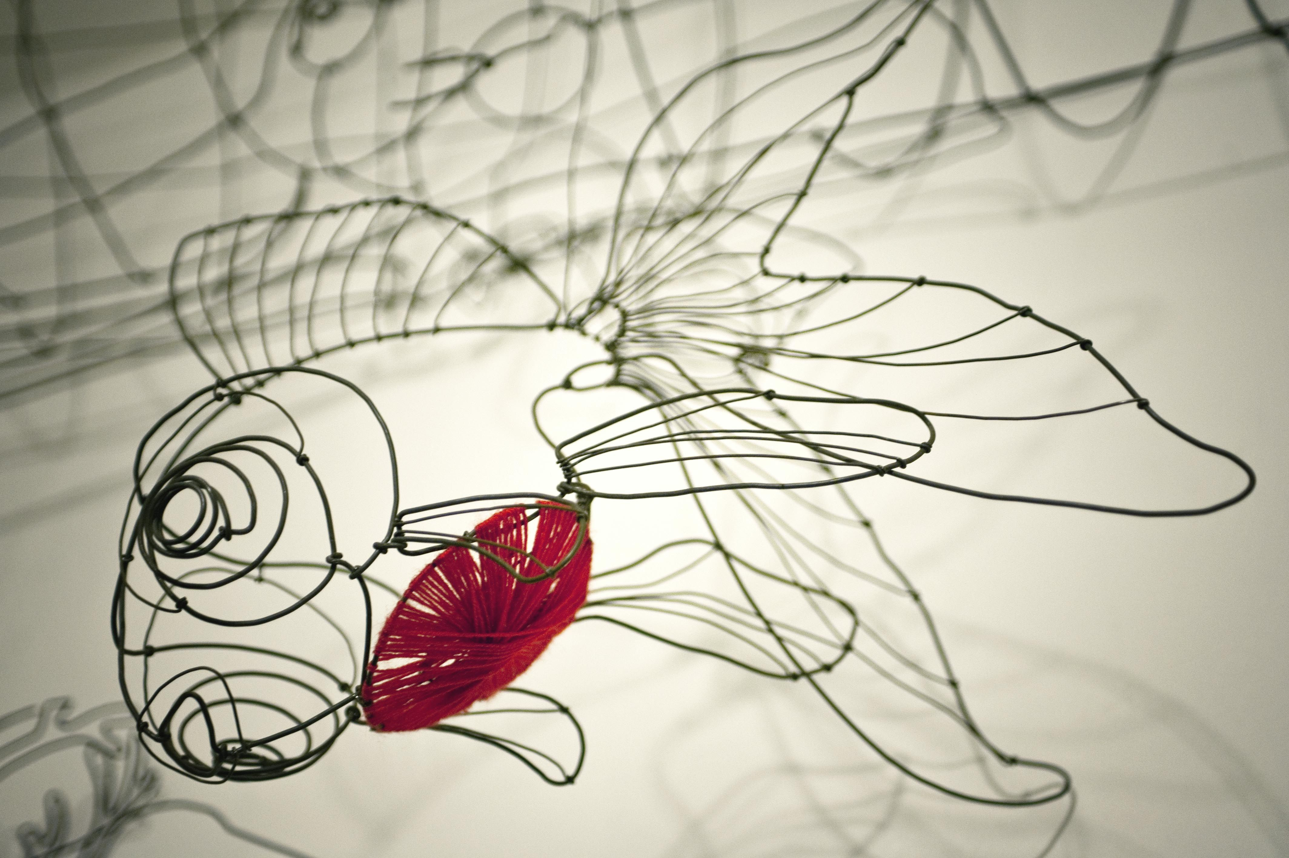 Chizu Kobayashi\'s creations are twisted iron wire poetry. http://www ...