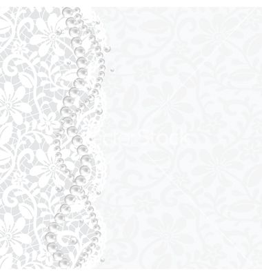 Lace background and pearl necklace vector | วินเทจ ...