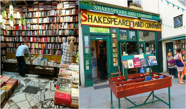 Shakespeare & Company Bookstore in Paris