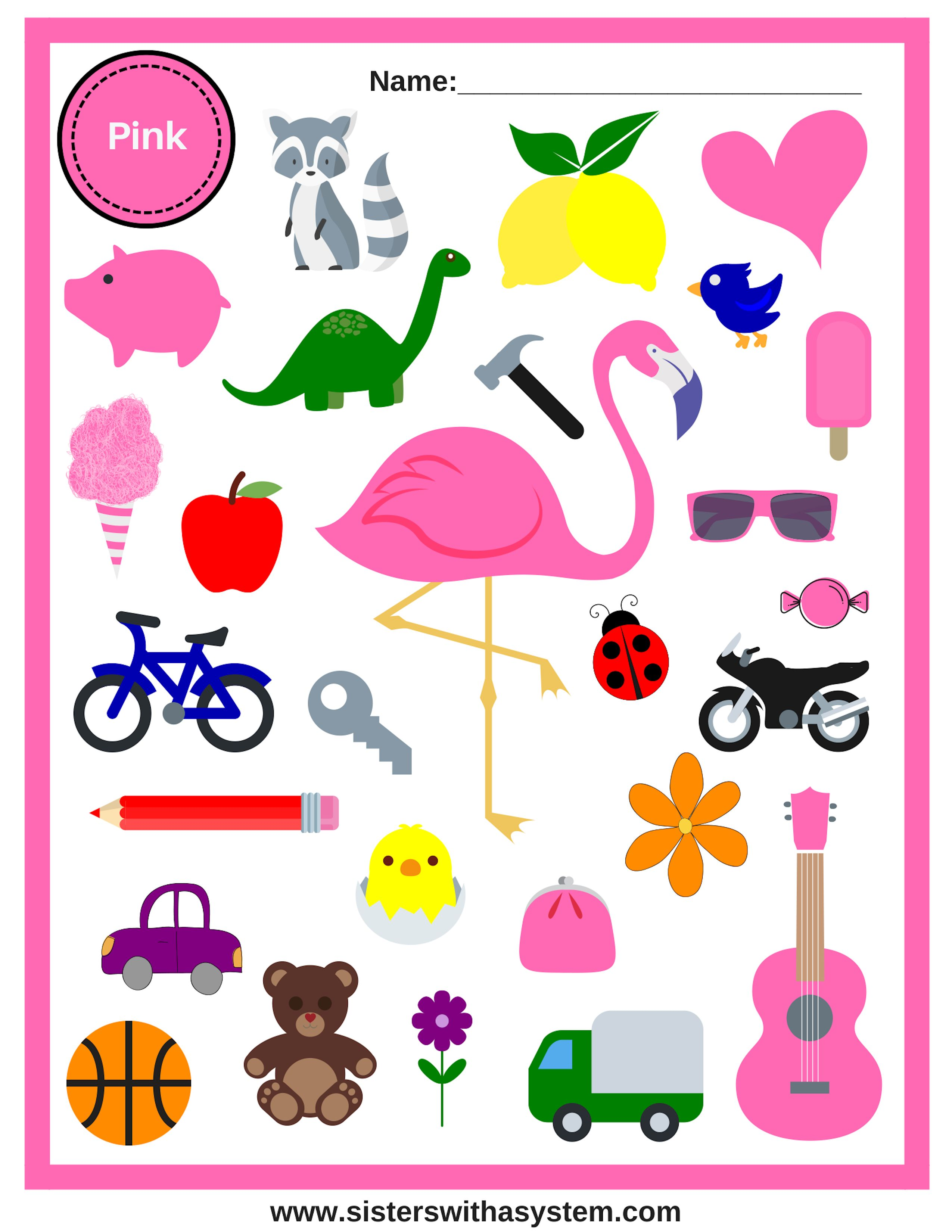 Look And Find Colors Sheets