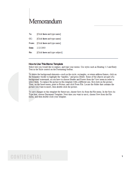 Awesome Business Memo Template With Memo Format On Word