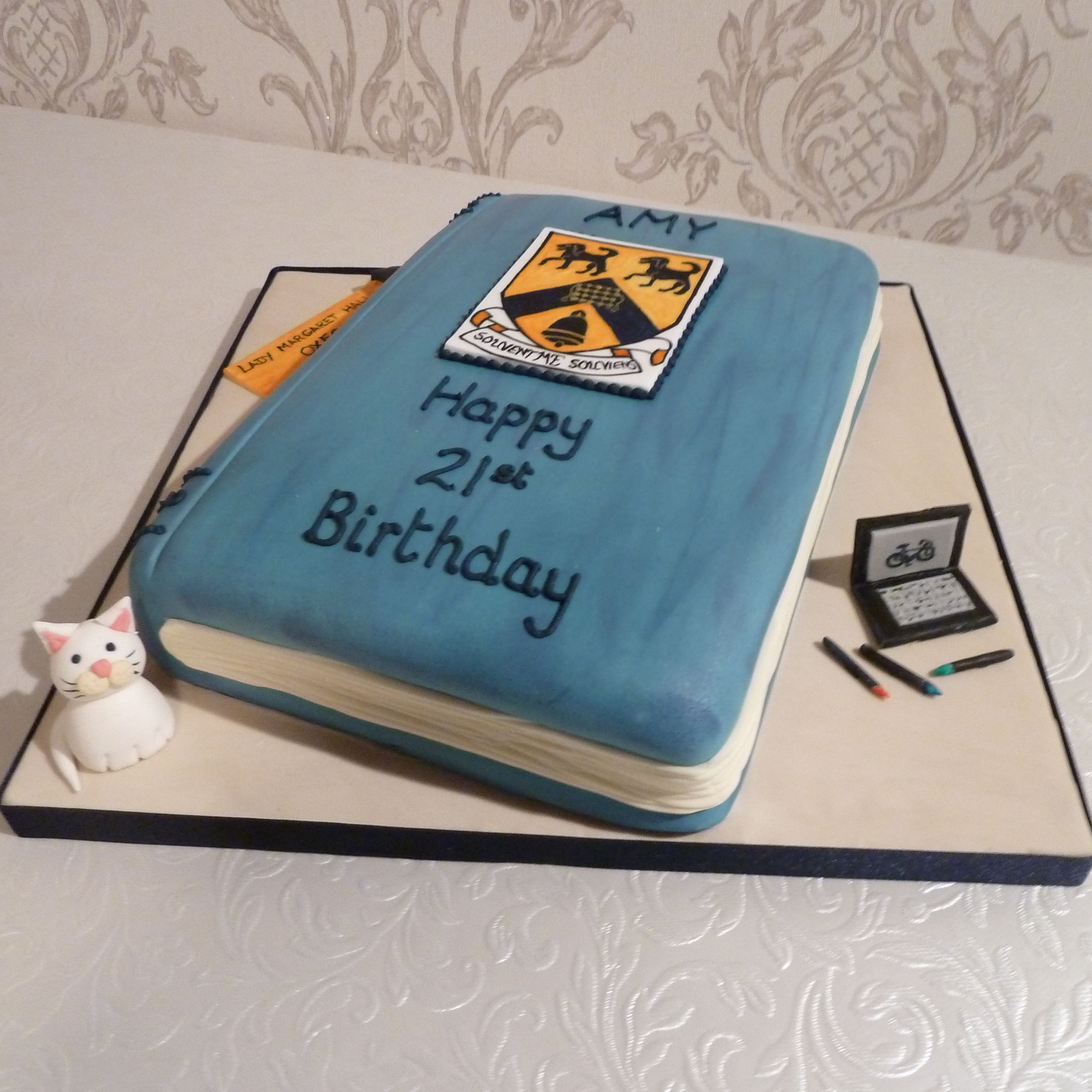 Outstanding 21St Birthday Cake For A History Student From Cakesbykit Co Uk Funny Birthday Cards Online Inifodamsfinfo