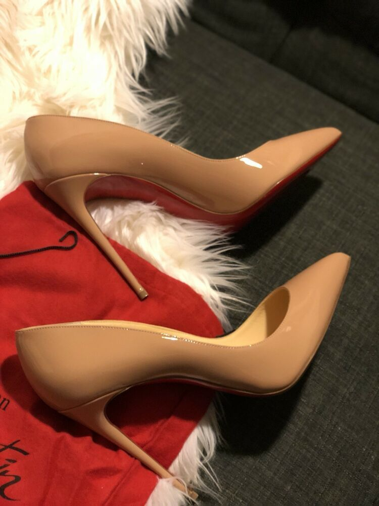 6b567ab0c9ee AUTHENTIC CHRISTIAN LOUBOUTIN PIGALLE FOLLIES SHOES Red Sole nude HEELS sz  40  ChristianLouboutin  HEELS