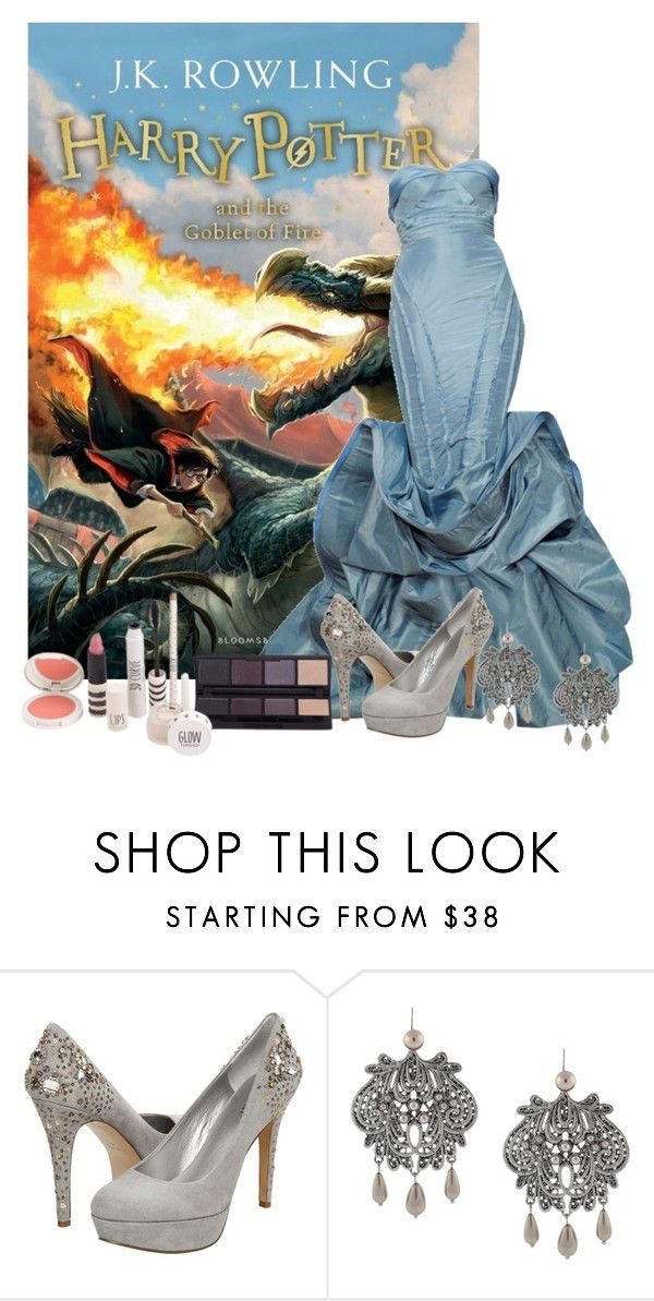 """""""Harry Potter and the Goblet of Fire-  J. K. Rowling"""" by lucyhalliday ❤ liked on Polyvore featuring Nine West, Jessica Simpson and Topshop"""