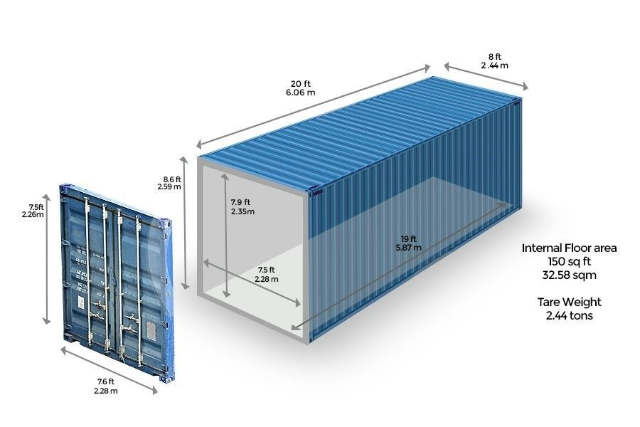 What You Need To Know About A 20 Shipping Container Shipping Container Dimensions Container Dimensions Shipping Container
