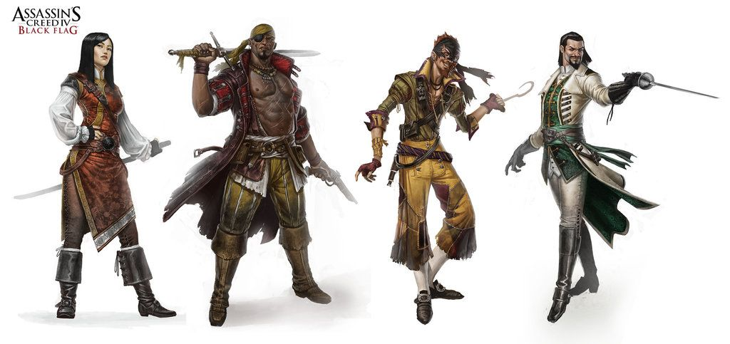 Assassin S Creed Iv Black Flag Character Design Assassins Creed