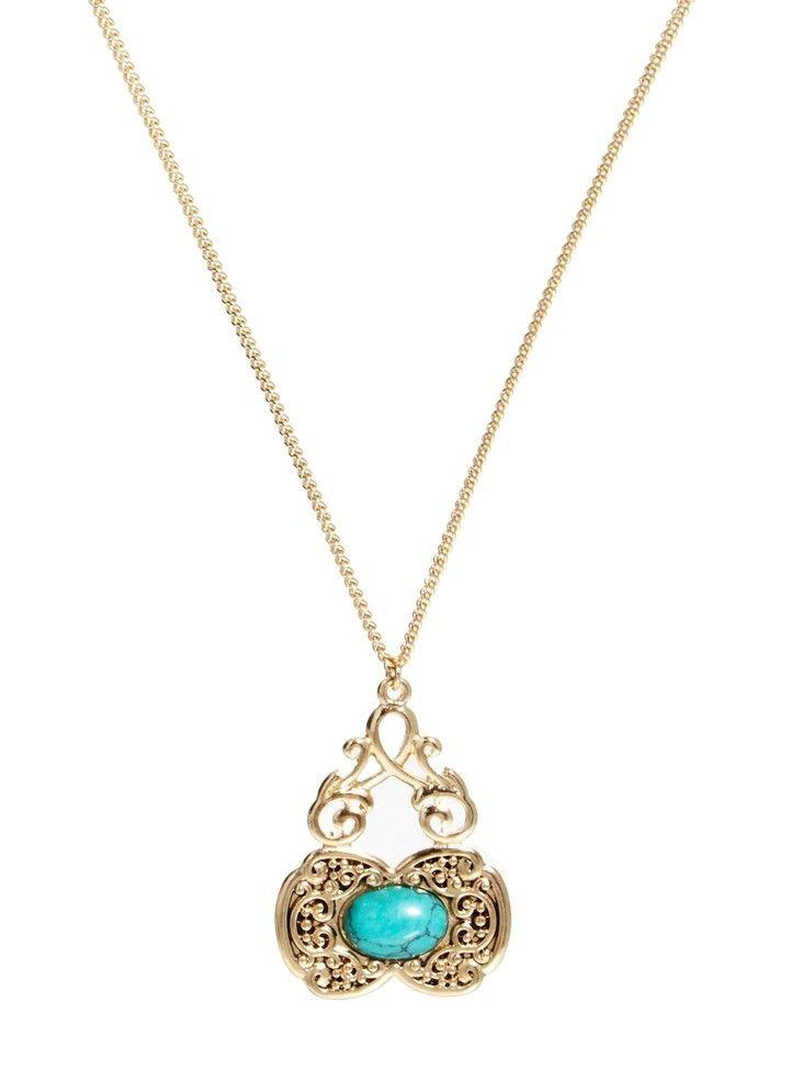 Turqois boho necklace