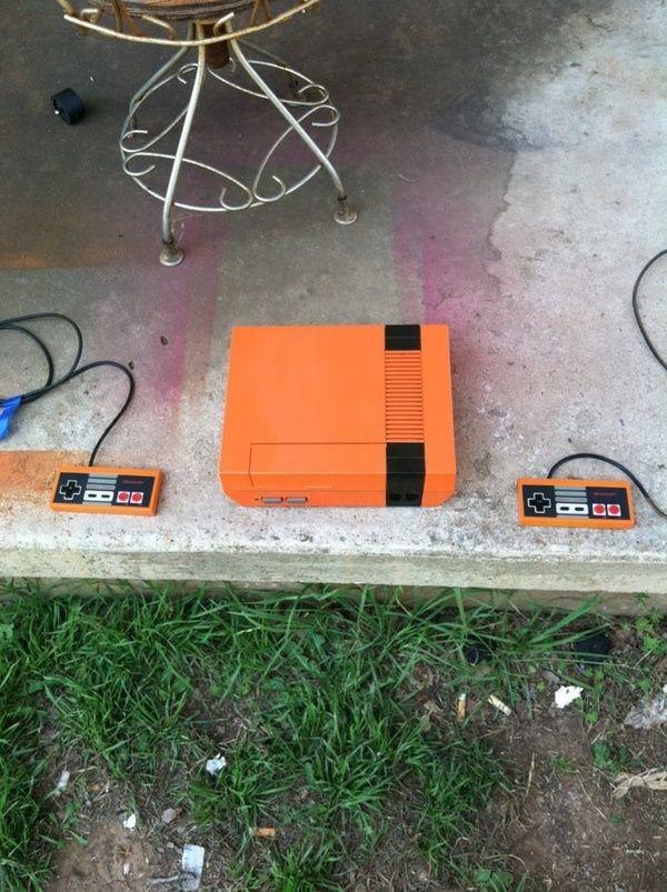 Custom orange NES makes a fun weekend project