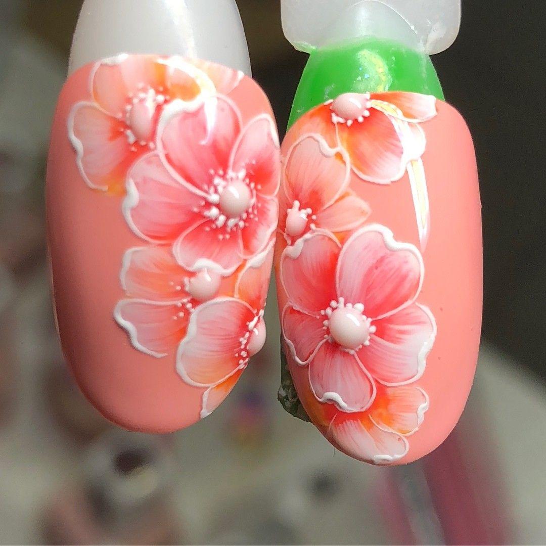 Внутренний дизайн ногтей с цветами фото