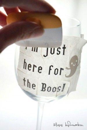 Diy Halloween Wine Glasses Mjs Ctafts Pinterest Halloween Wine