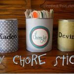 DIY Chore Sticks