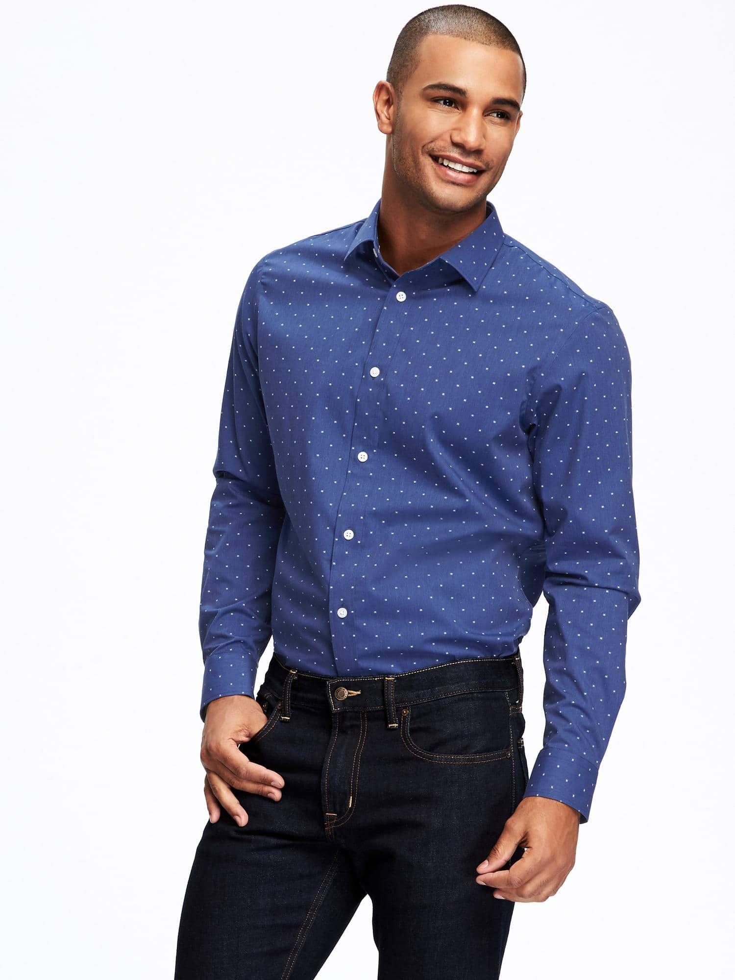 SlimFit BuiltIn Flex Signature NonIron Shirt for Men
