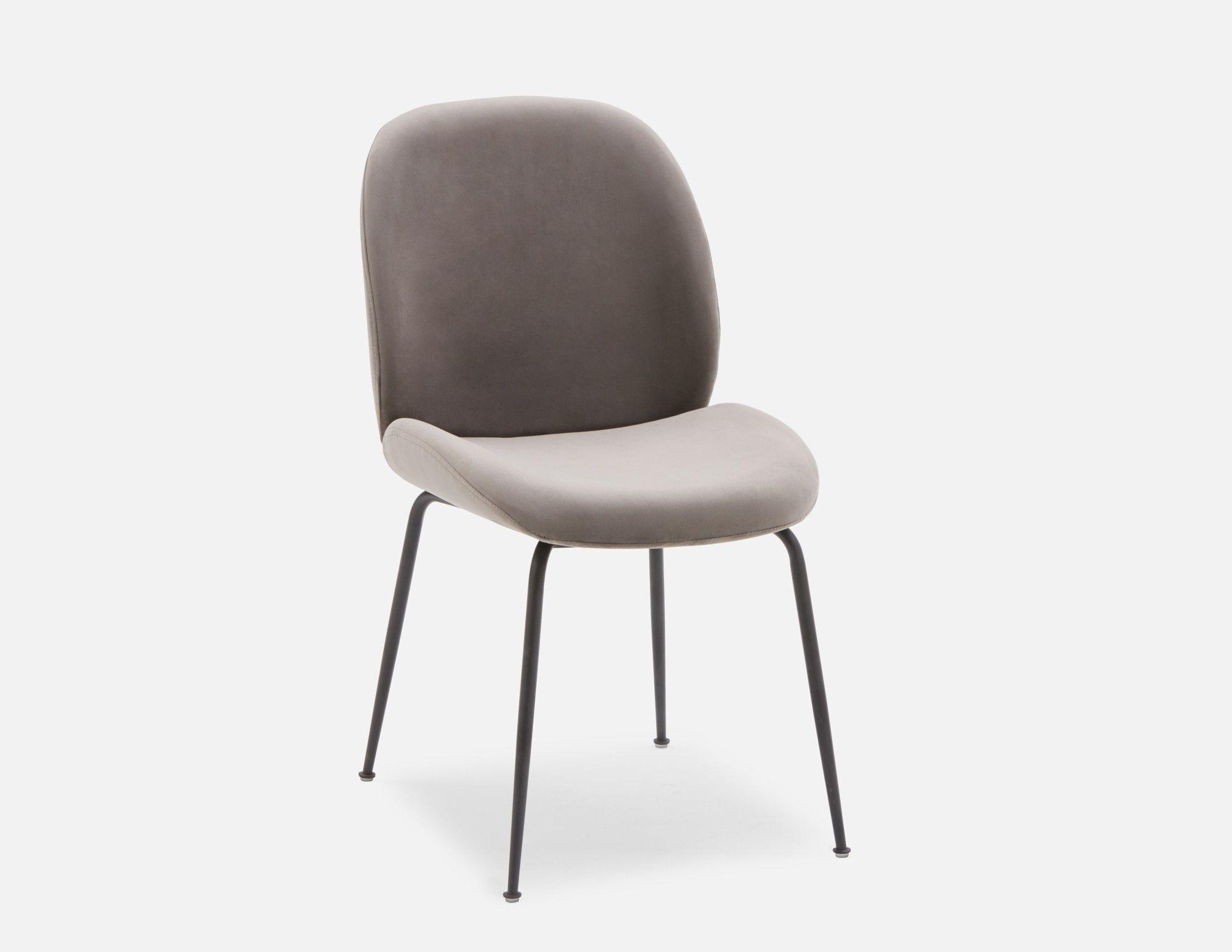 Judith Grey Velvet Dining Chair Structube Chaise De Salle A