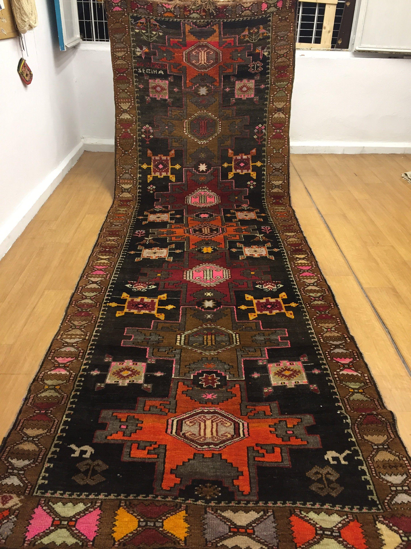 Turkish Runner Rug5x13 Ft Rugdesigner Rugdecorative Rug Etsy Rugs Vintage Rugs Interior Rugs