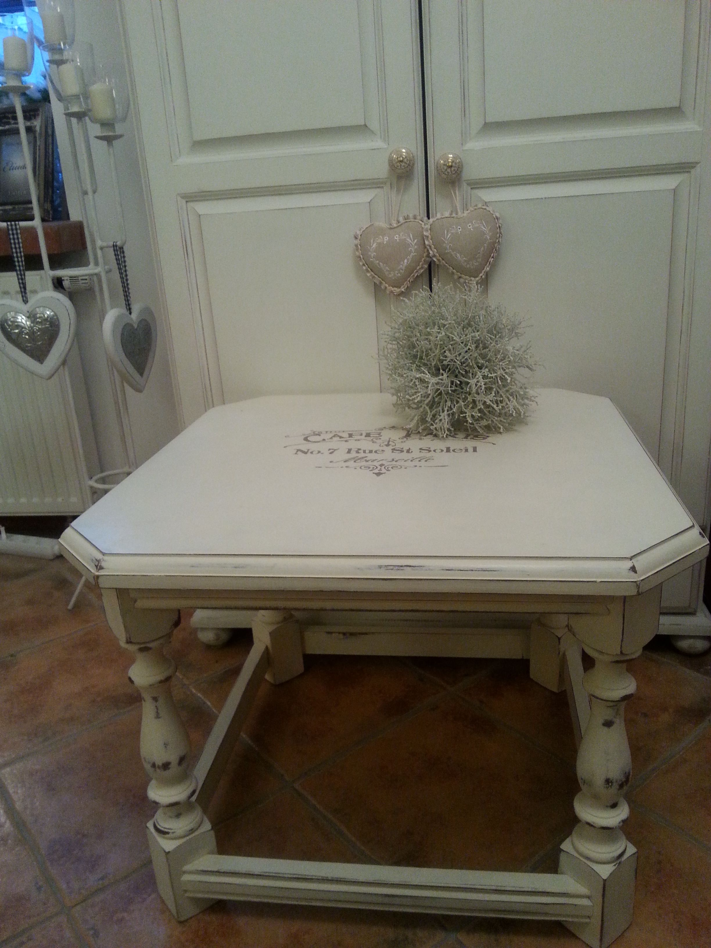 Old white & Coco Chalk Paint by Annie Sloan & Soft Wax Clear | Made ...