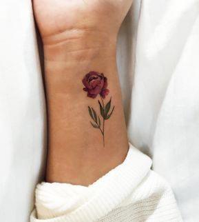 Pink Peony Temporary Tattoo By Lena Fedchenko (Set of 3)