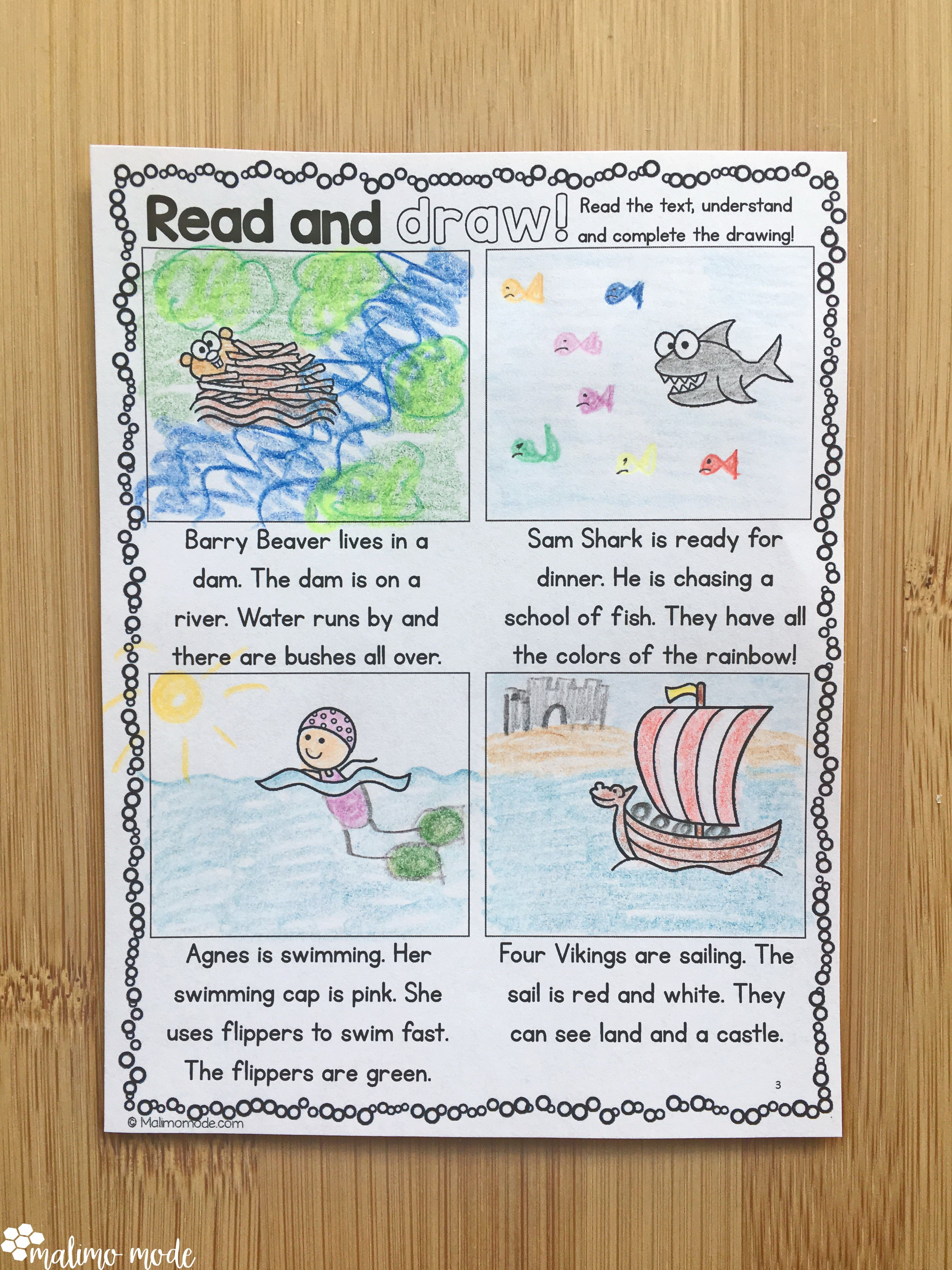 Drawing Based On Reading Prehension 3 Differentiated
