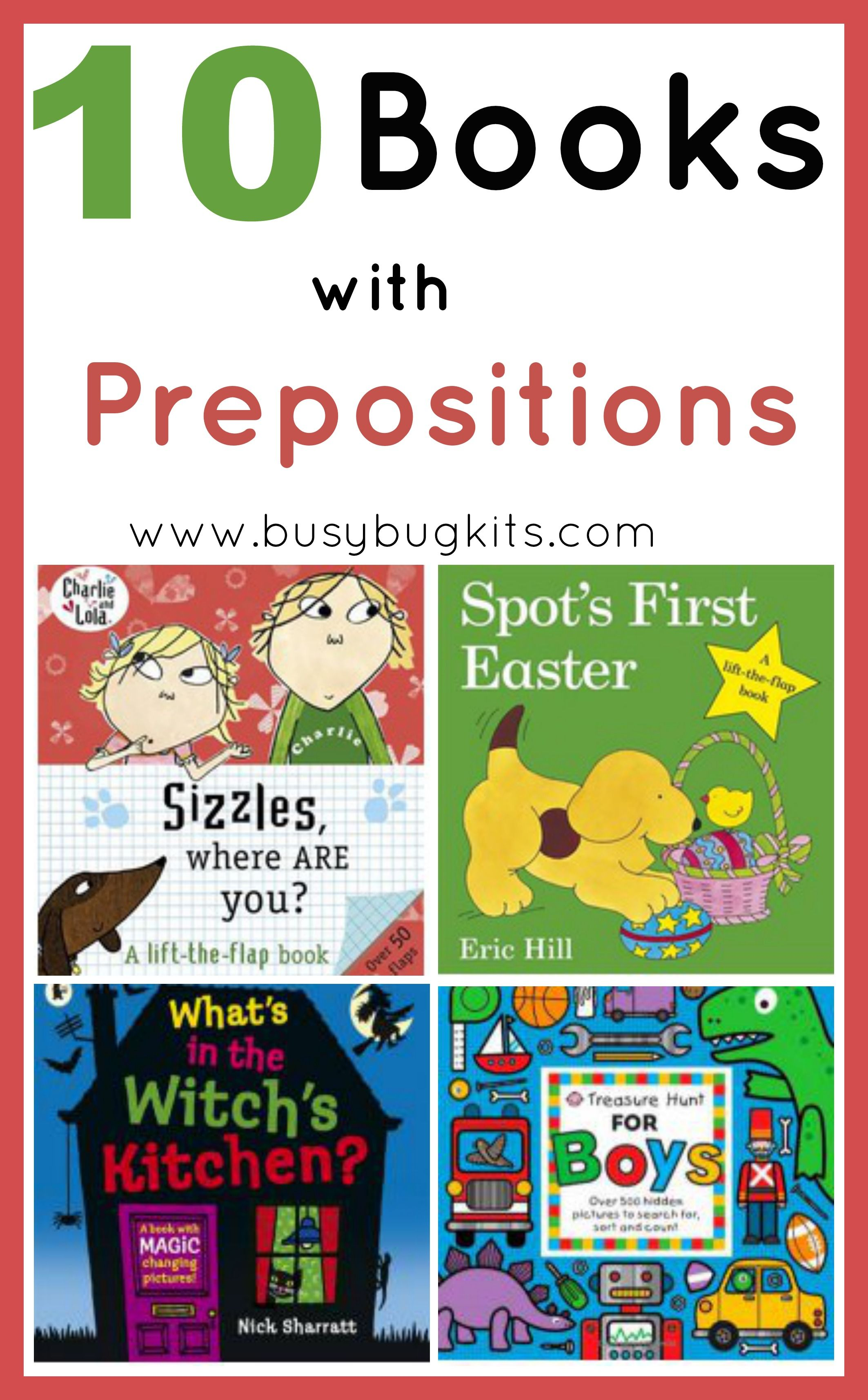 Busybug Kits 10 Books With Prepositions Pinned By Sos