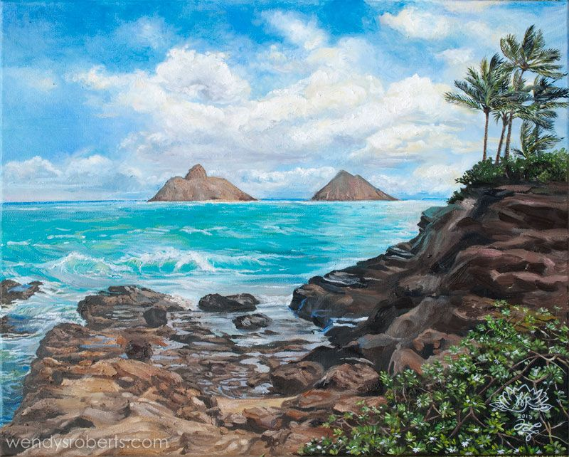 "Na Mokulua Hawai: ""Na Mokulua"" By Wendy Roberts A View Of The Mokulua"