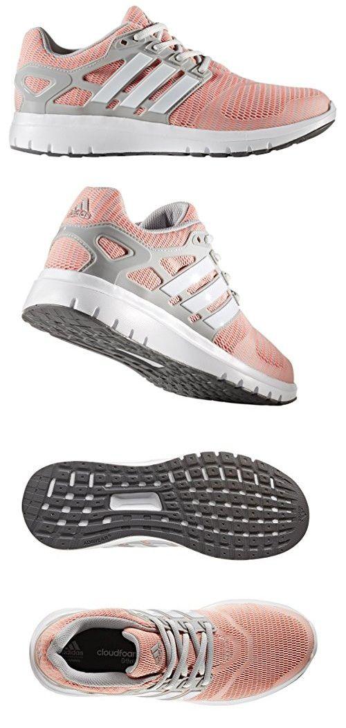 Adidas Performance Womens Energy Cloud V Running Shoe Grey Two White Sun  Glow