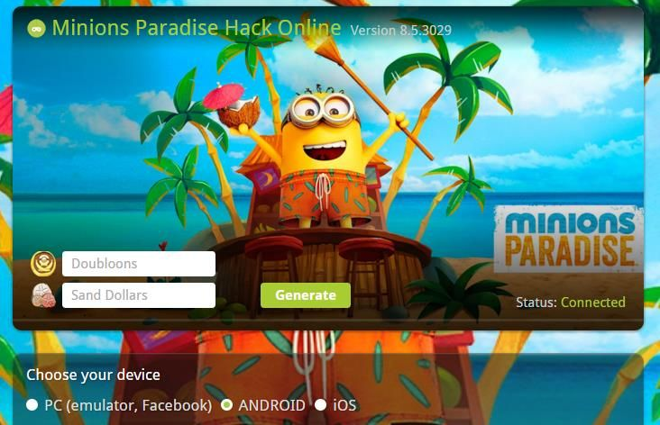 Minions Paradise Doubloons hack mod apk and sand dollars