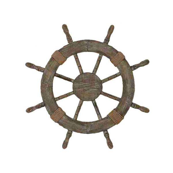 Ship Wheel Wall Décor Northern Nautical ❤ liked on Polyvore featuring home, home decor, wall art, fillers, nautical, backgrounds, fillers. //, decor, circle and circular