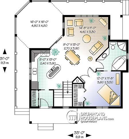 House Plan W3900 Images 1st Level House Plans Cabin Floor Plans Cabin House Plans
