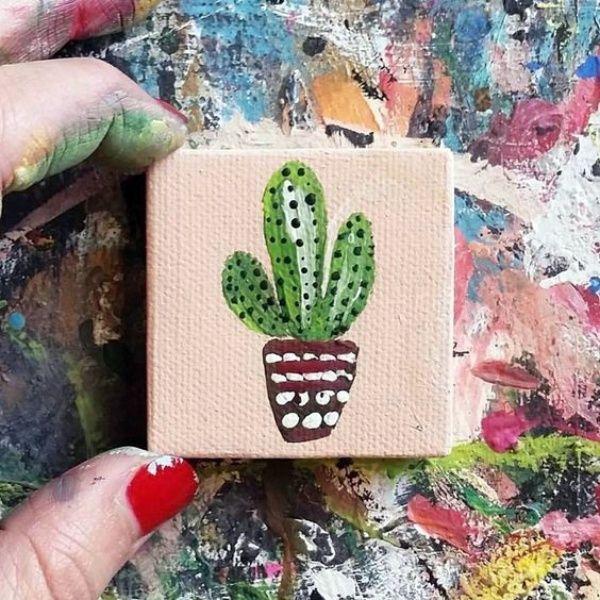 40 Elegant Mini Canvas Painting Ideas Small Cute766