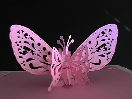 Pop Up Card A Butterfly Kirigami Patterns Pop Up Card Templates Kirigami