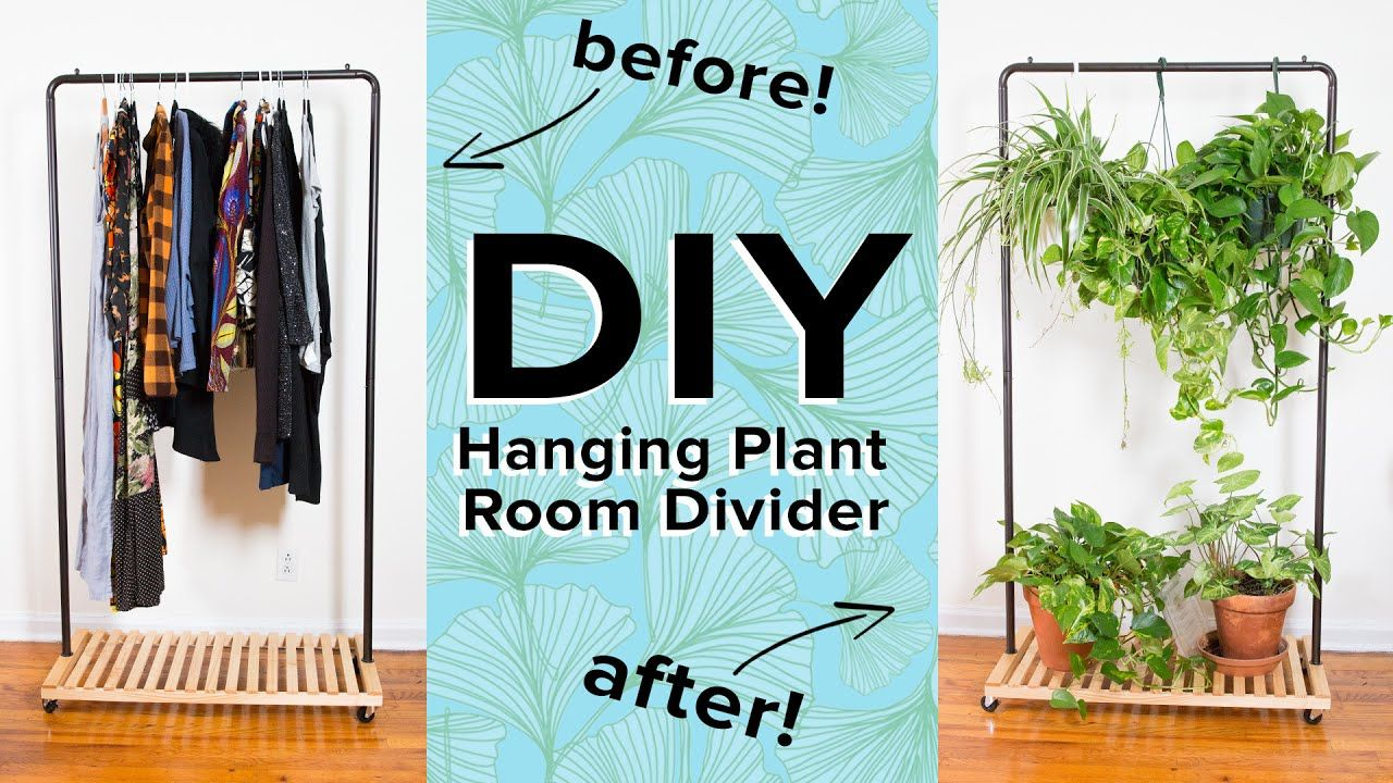 Hanging plant room divider youtube craft diy pinterest plant