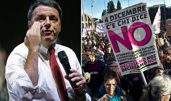 EU's ticking timebomb: Italy's EIGHT banks will FALL if Renzi loses referendum - WARNING