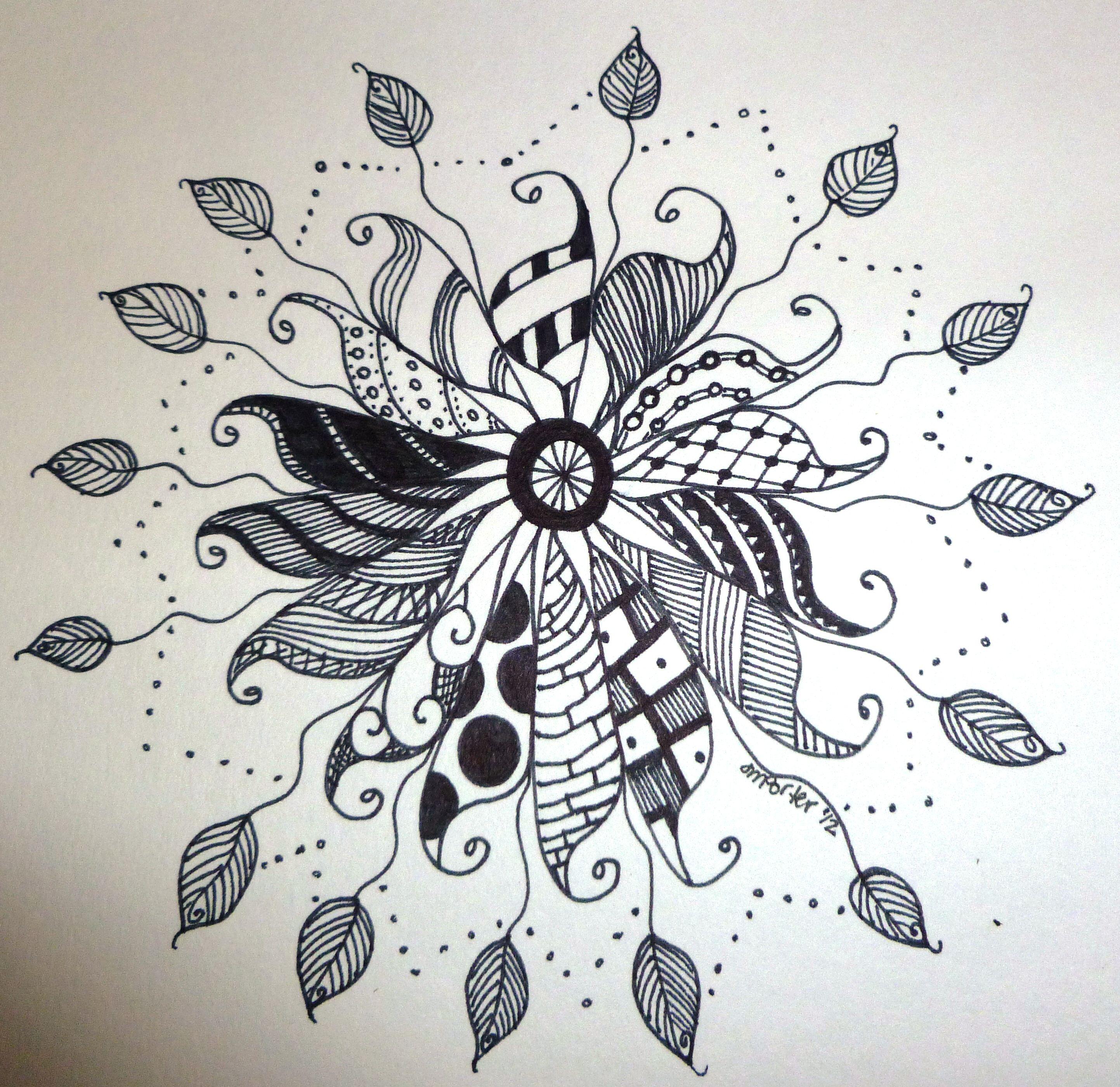 Zen doodle colour -  Zen Style Doodle Art By Jmporter
