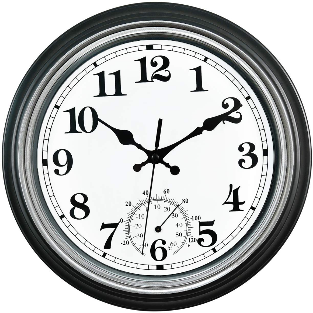 Top 10 Outdoor Clocks Of 2020 In 2020 Waterproof Wall Clock