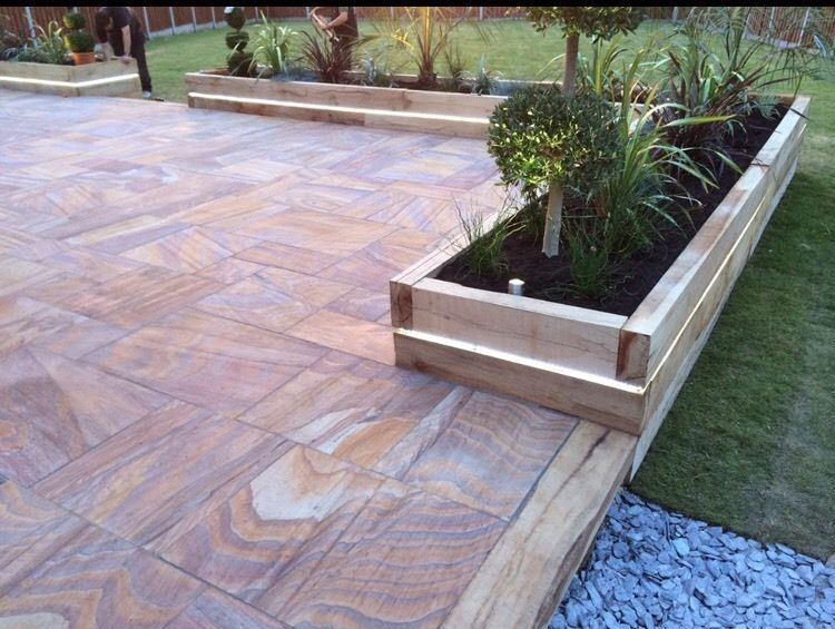 Garden Ideas Decking And Paving luxury indian sandstone rainbow - smooth paving, honed patio pack